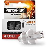 Alpine PartyPlug Oordoppen voor feesten, muziek, festivals, disco en concerten - Voorkomt gehoorschade - Hoge…