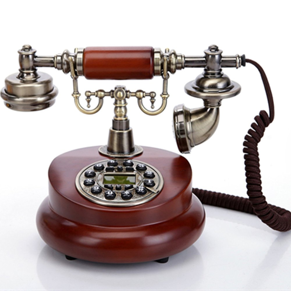TelPal Classic Vintage Desktop Wired Office Telephone 1950, Old Fashioned, Antique Style