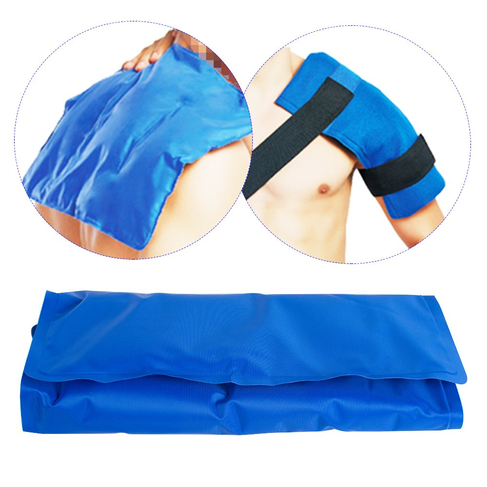 Zinnor Gel Ice Pack Reusable Hot & Cold Therapy Wrap Support Injury Recovery, Joint and Muscle Pain Relief for Knees, Back, Hand, Foot, Wrist, Elbow