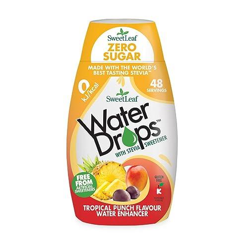 SweetLeaf Water Drops with Stevia Sweetener - 48 Servings (48 ml), Tropical Punch