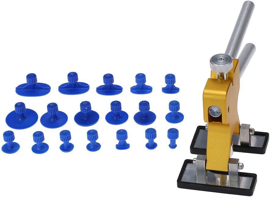 Gecheer Kit de Herramientas para Reparación de Abolladuras Coche, Cuerpo de Coche Extractor de Dent Lifter, Herramienta de Reparación Extractor + 18 Tabs Herramienta de Remoción de Granizo