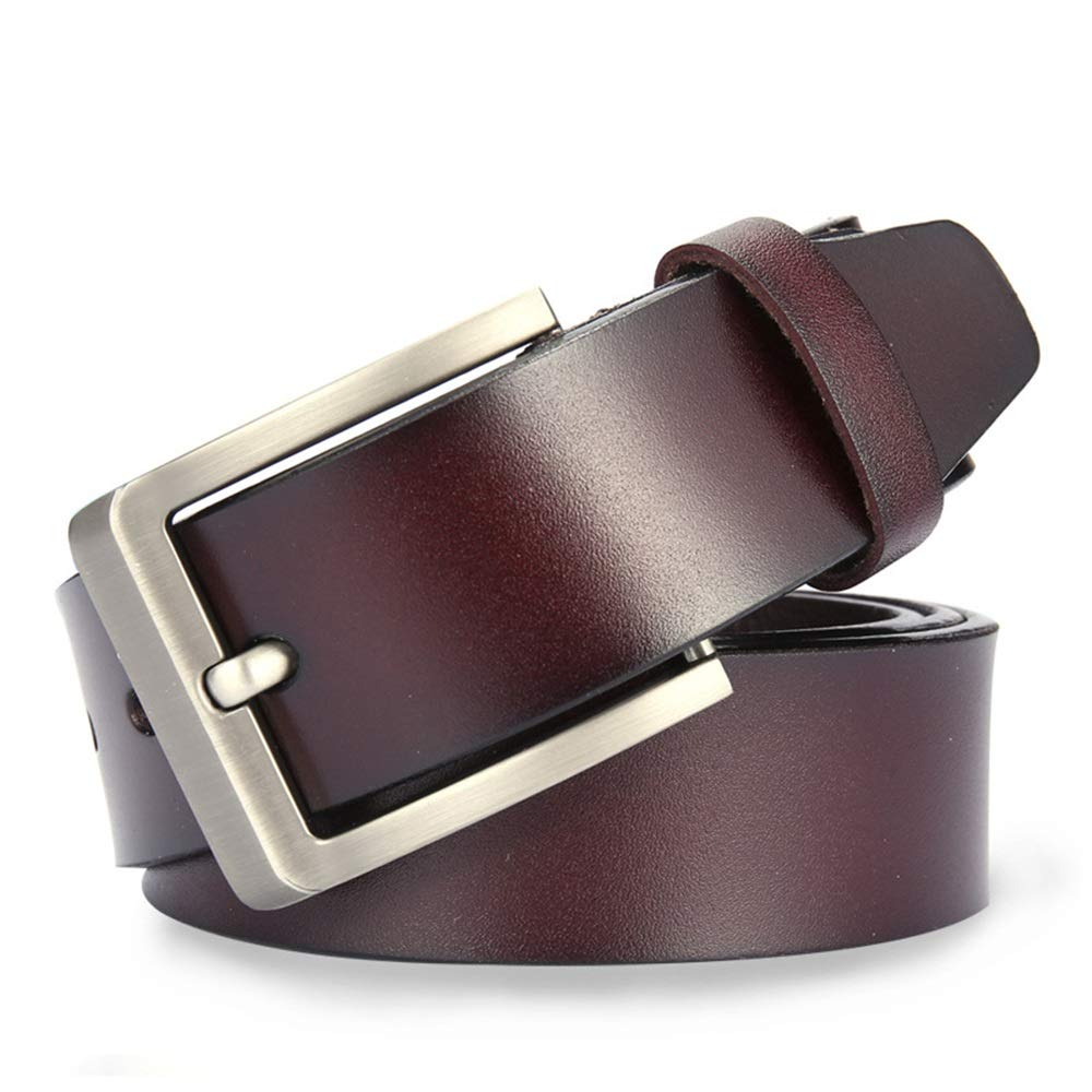 Crystalzhong-MW Mens Leather Strap Waistband Mens Leather Buttons Belts Casual Pure Leather Jeans Belts Formal Belt Size : XXL