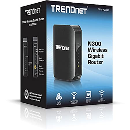 TRENDnet TEW 733GR Wireless 300N Gigabit Router Routers