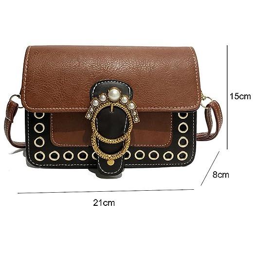 Bolso de Crossbody Bolso de hombro retro de la moda del bolso de las mujeres pequeño bolso salvaje del comercio pequeño del paquete femenino (tamaño: los 21 ...