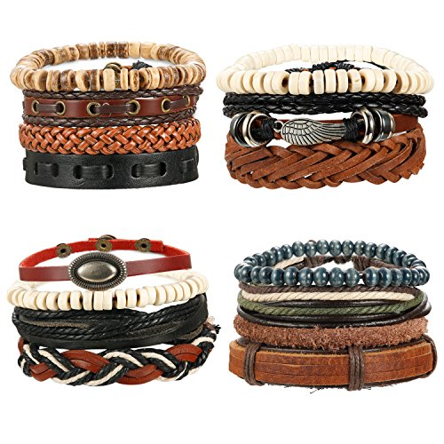 LOYALLOOK 15Pcs Braided Leather ...