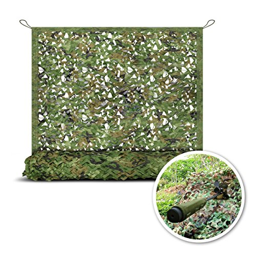 (StarQualityBargain Militarty Camo Net - Large Camouflage Mesh Netting - Portable Hunting Blinds Camonet with Carrying Bag - 23'x5' )