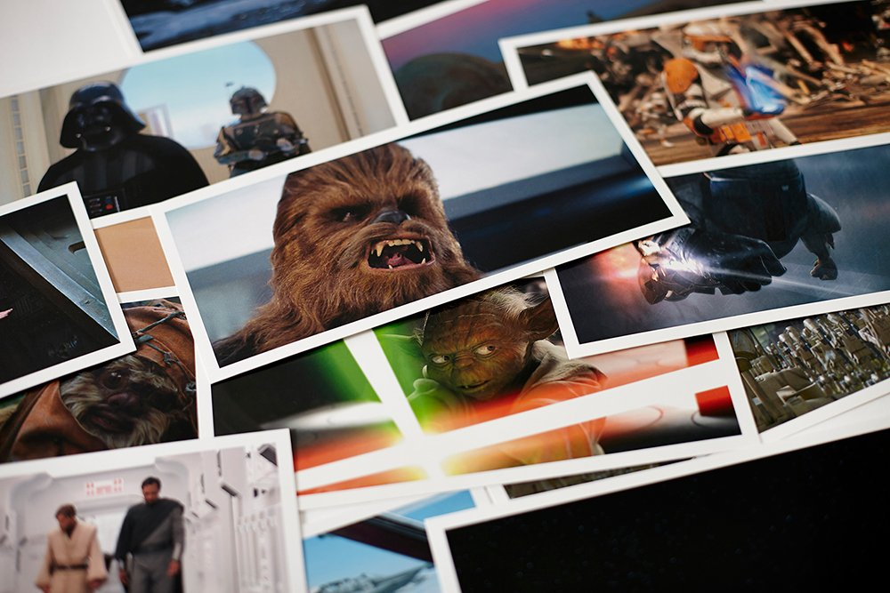 star wars frames 100 postcards lucas film ltd tm 9781419718113 amazoncom books