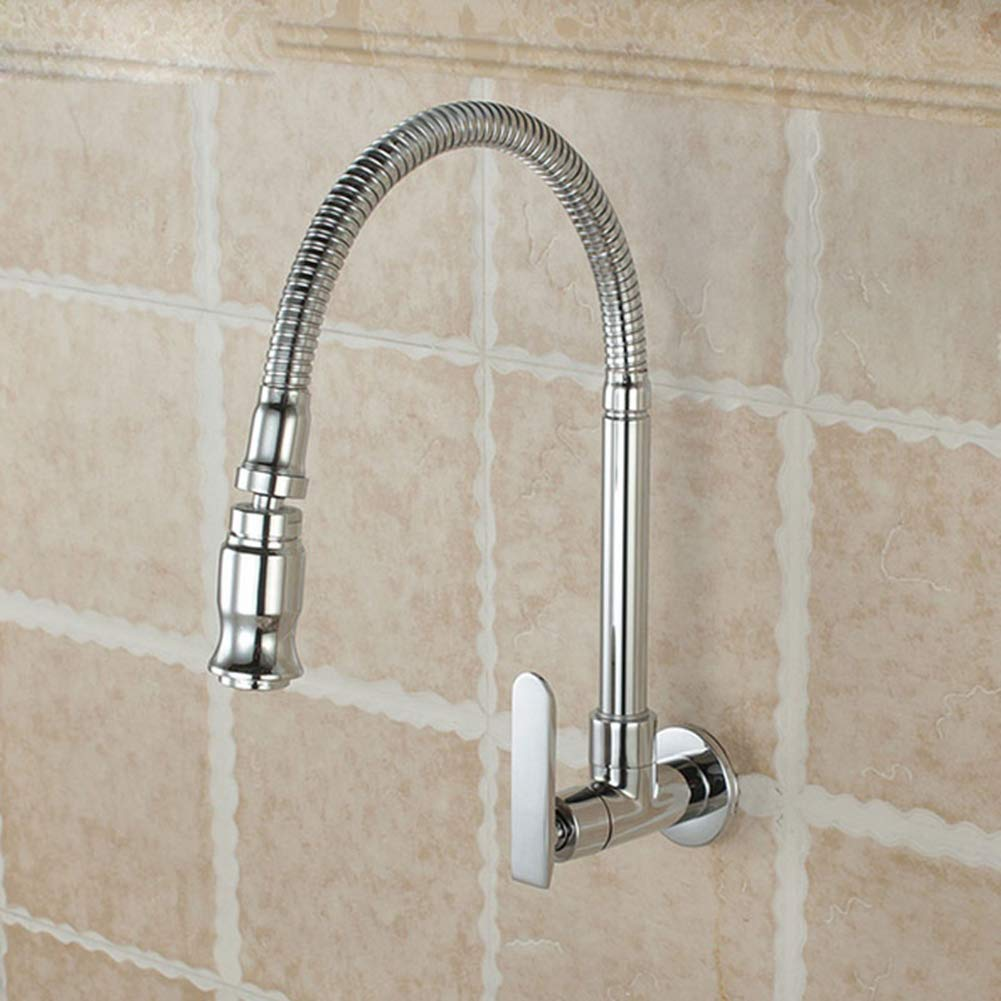 Infgreate Convenient and Practical Durable Single Handle Kitchen Faucet Cold Water Wall Mounted Brass Taps