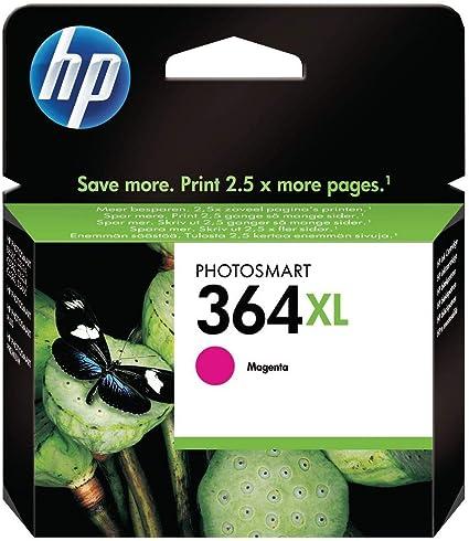 Oferta amazon: HP 364XL CB324EE Magenta, Cartucho de Alta Capacidad Original, de 750 páginas, para impresoras HP Photosmart serie C5300, C6300, B210, B110 y Deskjet serie 3520