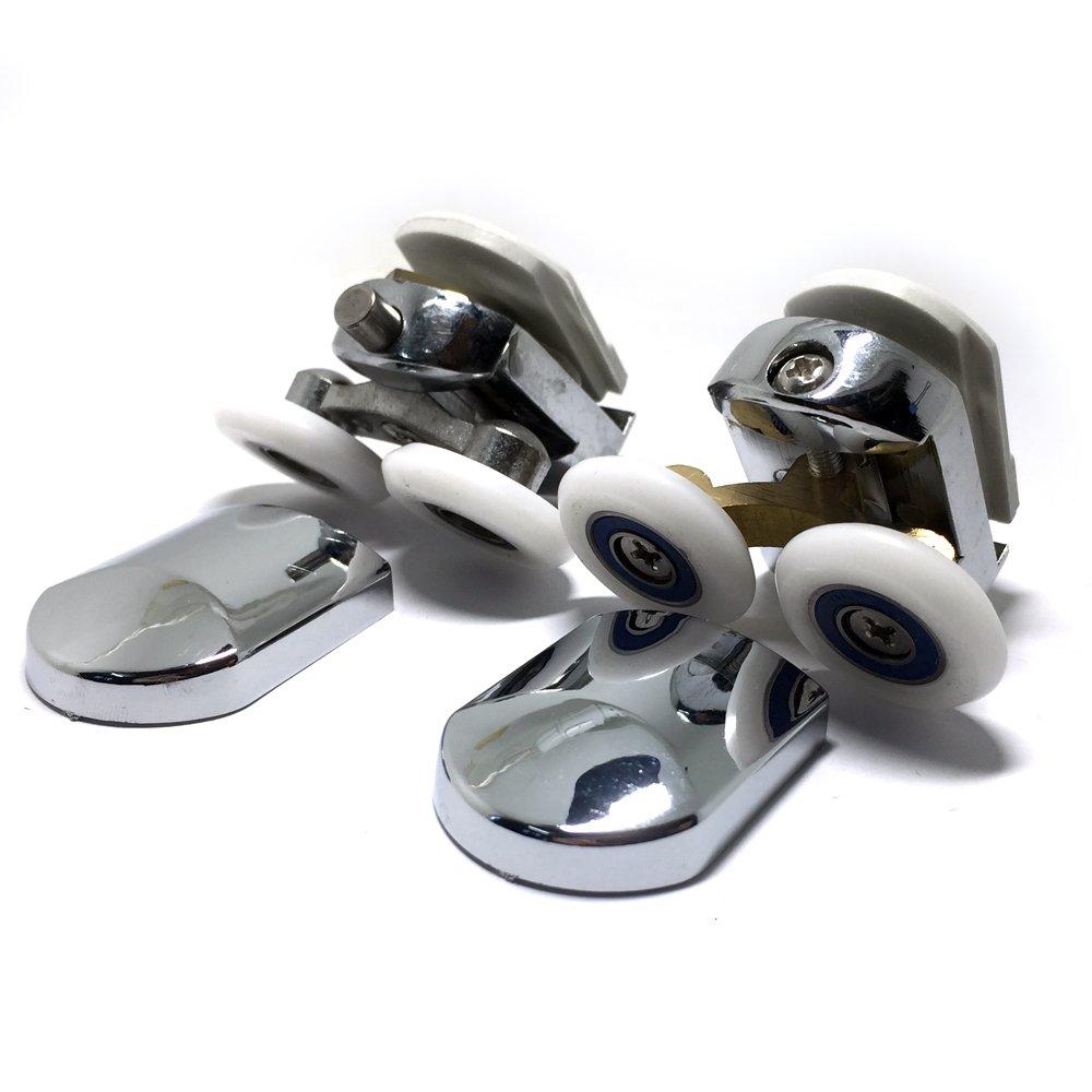 304 Edelstahl Tür Rolle Schieben Dusche Oben Unten Läufer Räder 25 mm x 5 mm
