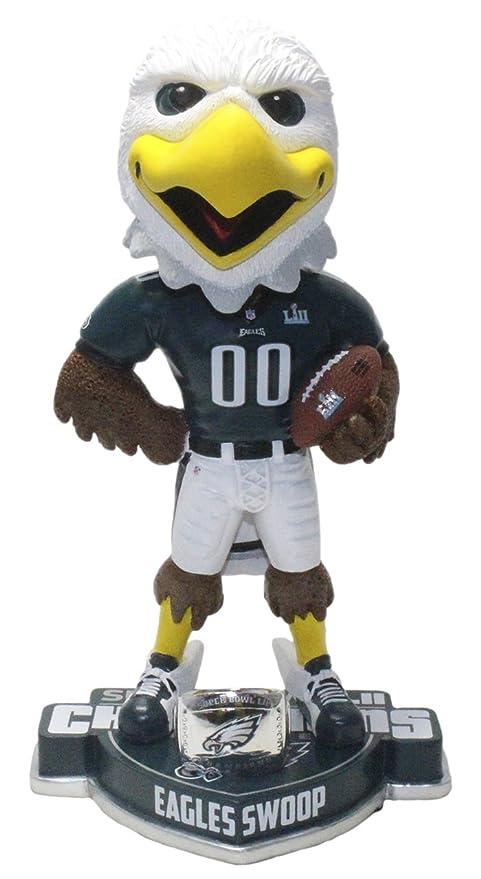 Amazon Com Mascot Swoop Eagles Superbowl Champions Bobblehead