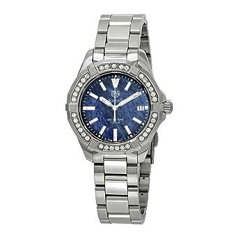 2557bab4602 Amazon.com  TAG HEUER AQUARACER 300 M Blue 35mm WAY131N.BA0748 ...