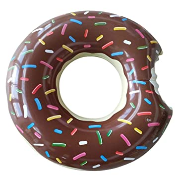 Amaoma Donut Hinchable Flotador Donut Flotador Hinchable con Forma de Donut Flotador Inflables 90cm Rueda Hinchable Donut Natación Playa o Piscina ...