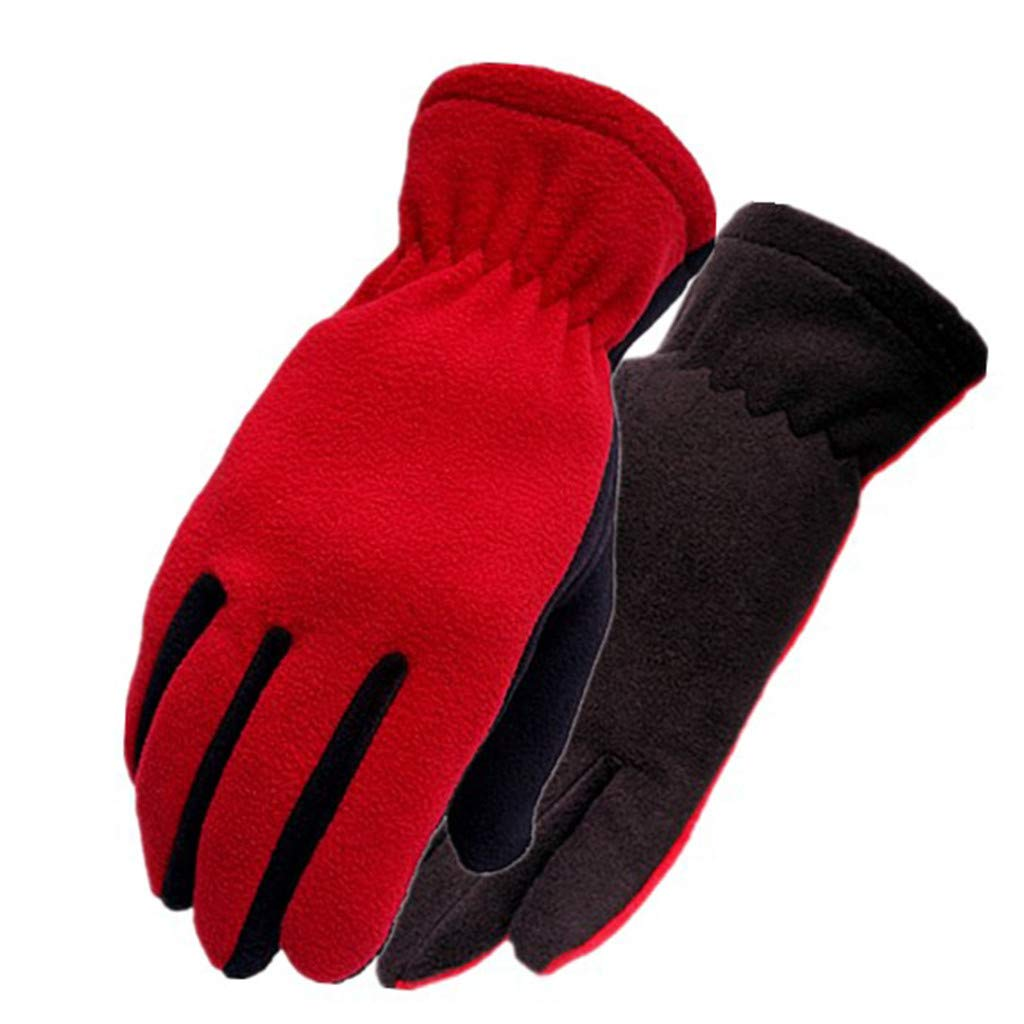 XGao Unisex Casual Patchwork Windproof Warm Wrist Full-Finger Gloves Cold Weather Gloves