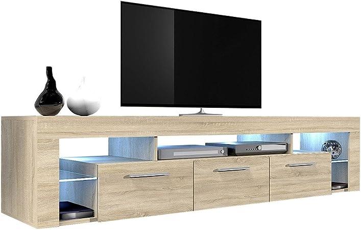 TV Möbel Fernseher Schrank Fernsehtisch Sonoma 140cm Lowboard TV Schrank