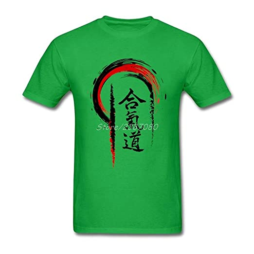 e817179d13804 Image Unavailable. Image not available for. Color  Assinom Funny Mens  Aikido Cotton Custom Short Sleeve T-Shirts Personalized