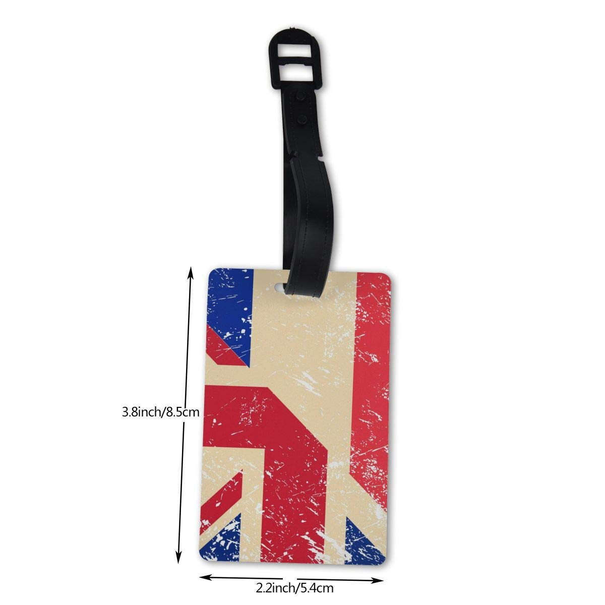NB UUD Birtish and France Retro Flag Travel Luggage Tag Portable Employees Card Luggage Tag Holders Travel ID Identification Labels for Baggage Suitcases Bags