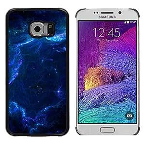 TopCaseStore / la caja del caucho duro de la cubierta de protección de la piel - Nebula Galaxy Stardust Blue Universe Gas - Samsung Galaxy S6 EDGE SM-G925
