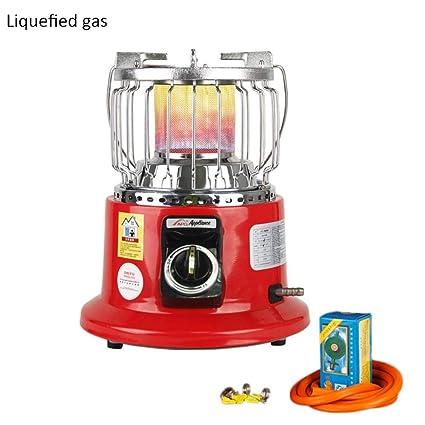 Calentador de gas portátil, 3000 W, multifunción, estufa de gas natural, para
