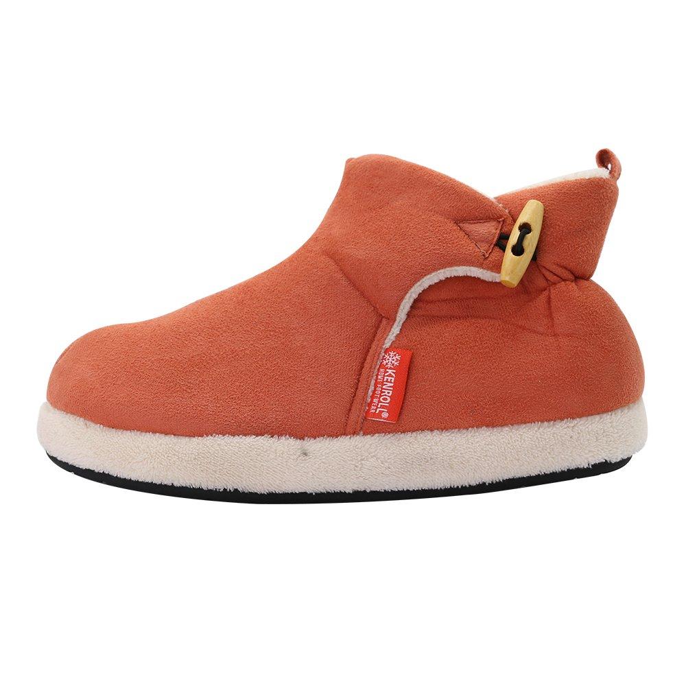kenroll Zapatillas Botines de Gamuza Antideslizantes Botas Para La Nieve Invierno Interior Casa Calzado Para Mujer KAcH3E