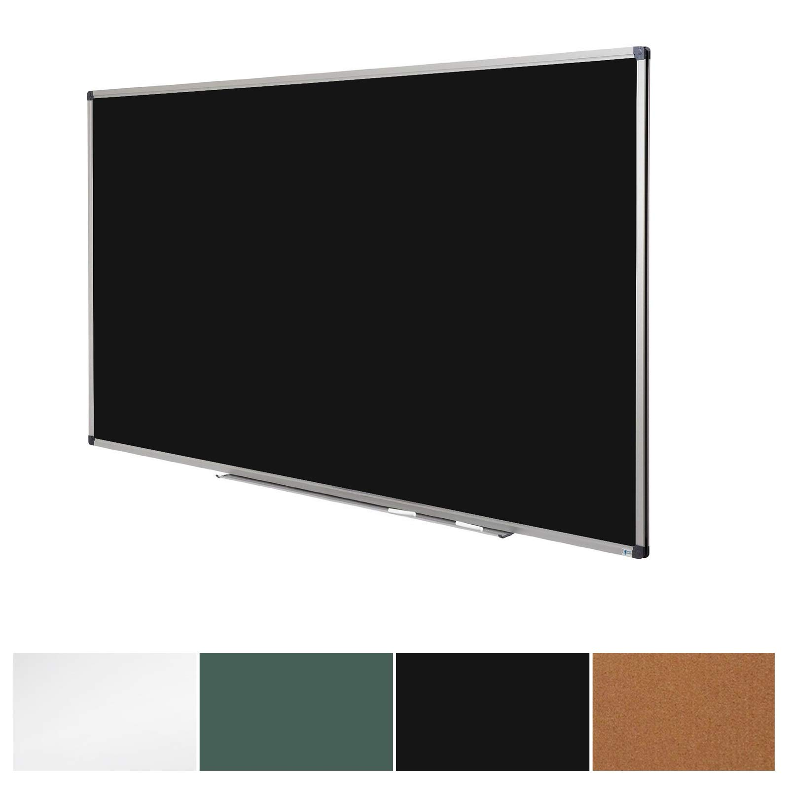 Black Magnetic Chalk Board | Aluminium Framed | Excellent Solution for Art, Notes and Memos | 3 Sizes Available | 18'' x 24'' (1.5'x 2')