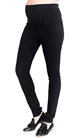 70c5a088a3d9e Ladies Ex High Street Maternity Black Over Bump Jeggings: Amazon.co.uk:  Clothing