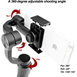 "Zhiyun Smooth-Q 3 Axis Handheld Gimbal for Smartphone Up to 6"" No More Counterweight, Freely Switch Standard/Vertical Shooting, 8hrs Run-Time, Buttons to Photo/Record/Zoom In/Out - Black"