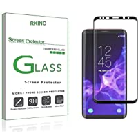 RKINC for Samsung S9 Plus Screen Protector, [1 Pack] Full Coverage Tempered Glass Clear Screen Protector [9H Hardness][3D Round Edge][0.33mm Thickness] for Samsung Galaxy S9 Plus, Black