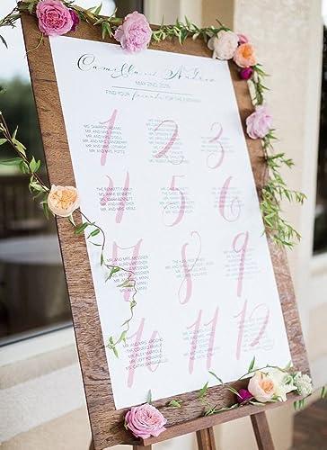 Amazon Wedding Seating Chart Downloadable File Wedding