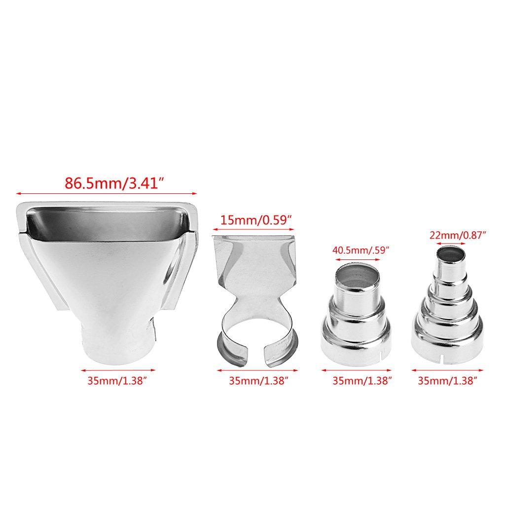 4Pcs Heat Gun Hot Air Nozzle Accessories Kit Soldering Station DIY Shrink Wrap *