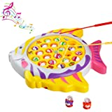 Juego de Pesca Rotativo Peces Juguete de Electrónico Musical para Niños Niñas 3 4 5 Años