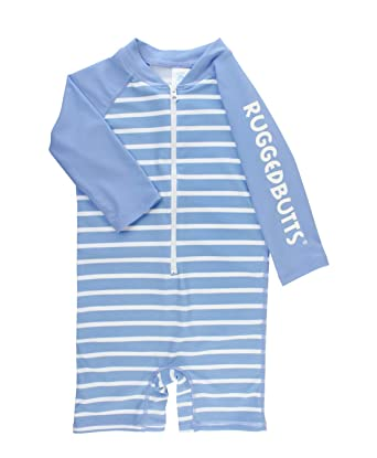 3a9b490c3 Amazon.com  RuggedButts Baby Toddler Boys Striped One Piece UPF 50+ ...