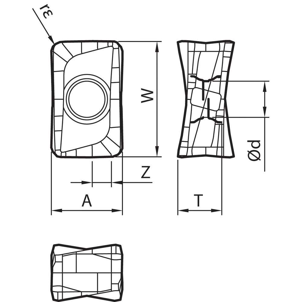 Indexable Milling Insert 10 Pieces Kyocera LOMU 100412ERGM CA6535 Grade CVD Carbide