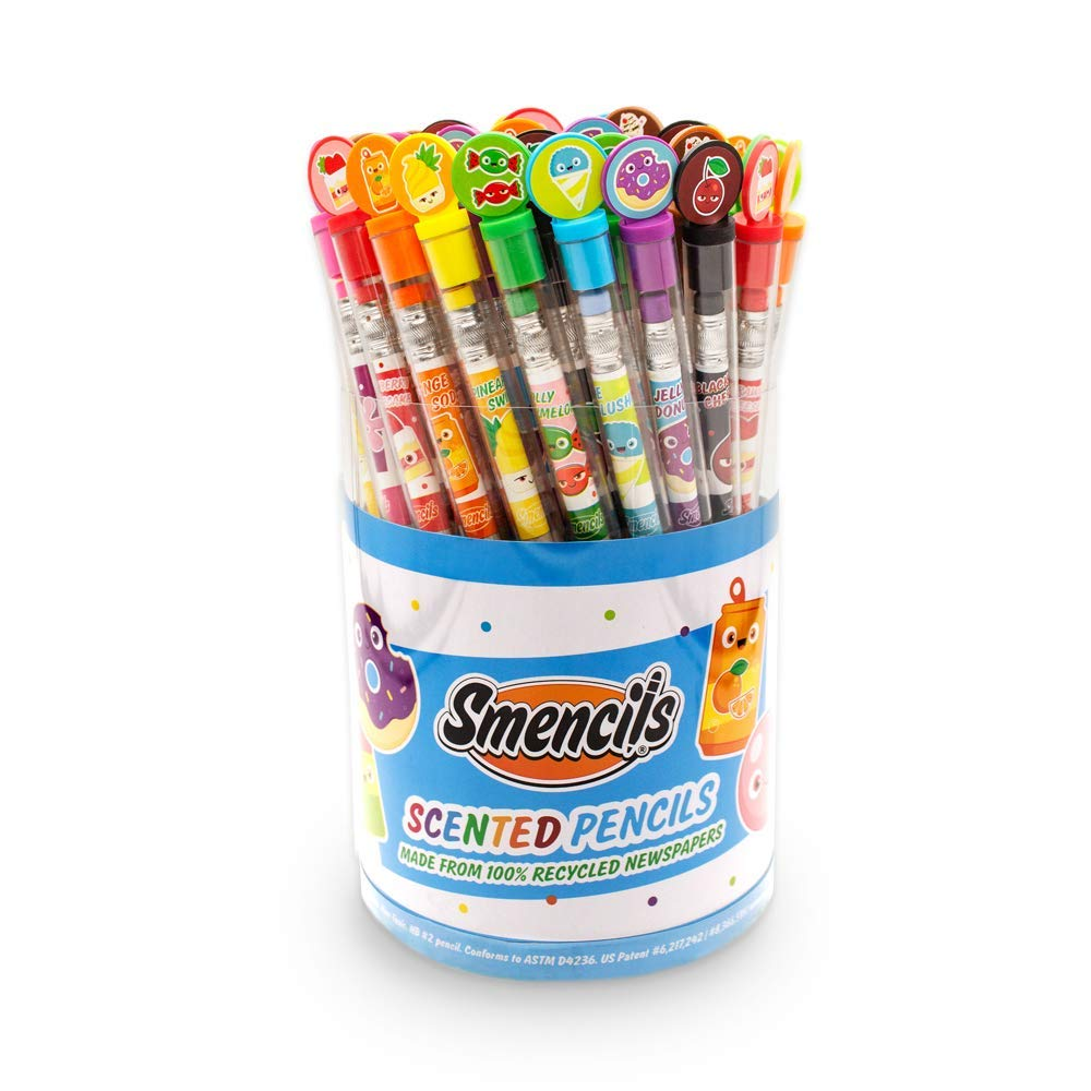 Scentco Graphite Smencils Cylinder - HB #2 Scented Pencils, 50 Count by Scentco