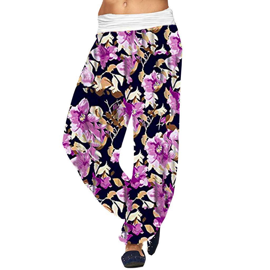 Plus Size Rompers/Jumpsuits for Women,Claystyle Fashion Womens Floral Cold Shoulder Jumpsuit Bodysuit V-Neck Romper(Hot Pink,3XL)