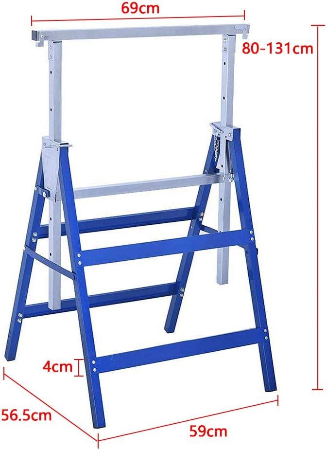 LZQ 2x Ger/üstbock 7-fach H/öhenverstellbar 80-130cm Teleskop-Arbeitsbock Unterstellbock Klappbock St/ützbock Ger/üst Arbeitsbock Blau