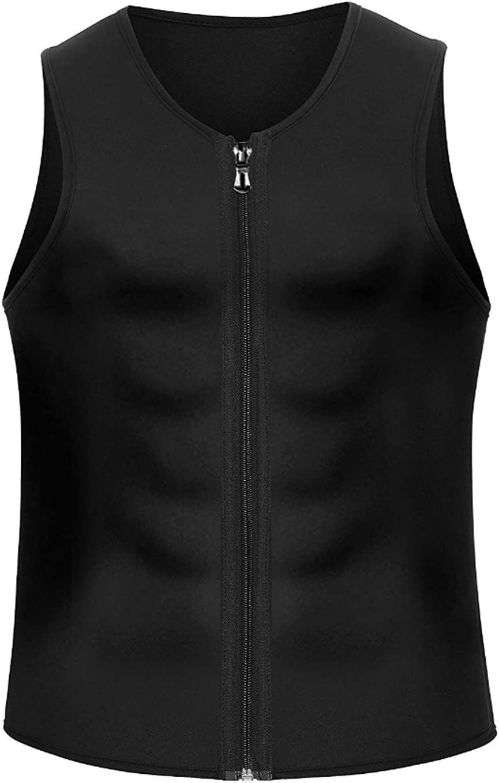 CORATED Mens Hot Sweat Body Shaper Tank Top Tummy Fat Burner Slimming Sauna Vest Weight Loss Shapewear Neoprene
