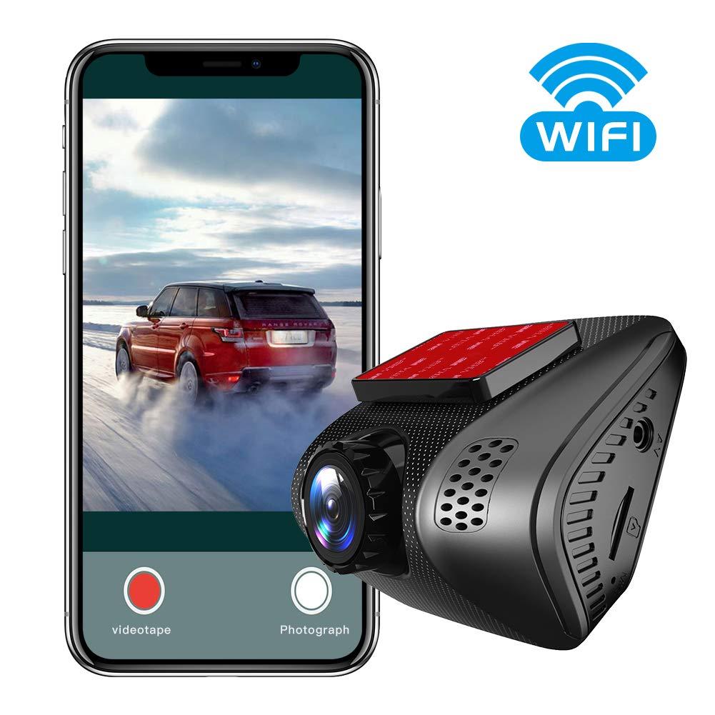Grabaci/ón en Bucle del Sensor G con WiFi para veh/ículos Lente de visi/ón Nocturna Vidrio de 6 Capas 4K DVR C/ámara Grabadora de Tablero Vsysto Mini Dash CAM para Coche