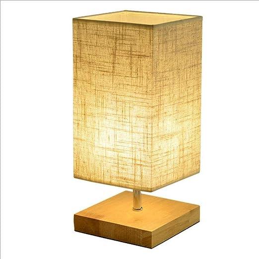 Simple Moderna Lámparas, Lámpara De Mesa De Madera Con La Pantalla ...