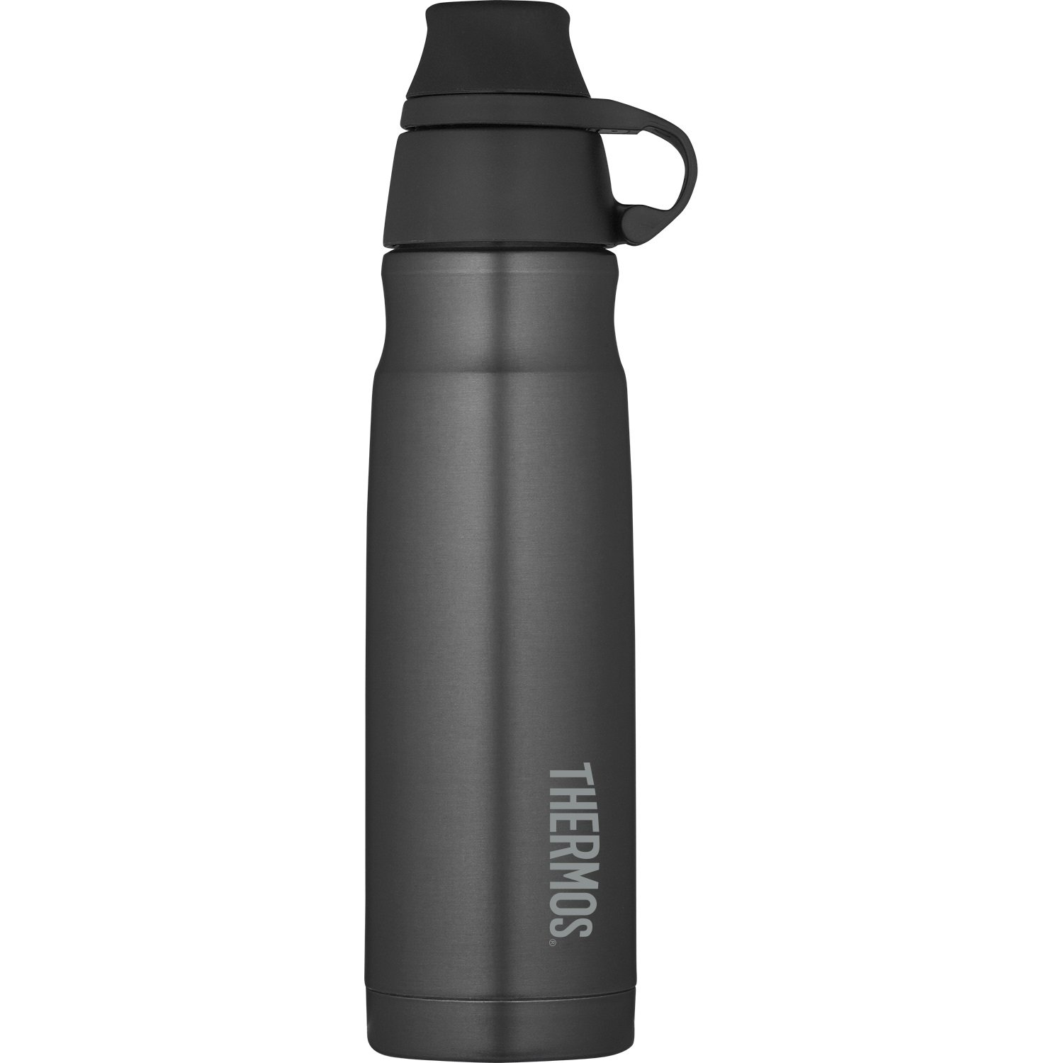 THERMOS Vacuum Insulated Stainless Steel Carbonated Beverage Bottle, 17-Ounce, Smoke