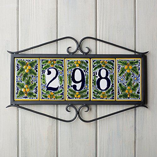 Plaque Address Tile (Cuzco Address Plaque Size: 5-Tile)