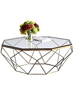 4b2516121d Tea Table Living Room Tempered Glass Table Wrought Iron Personality Fashion  Creative Small Apartment Simple Modern