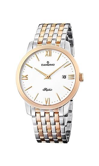 Candino c4417-2 - Reloj para caballero de acero Inoxidable blanco