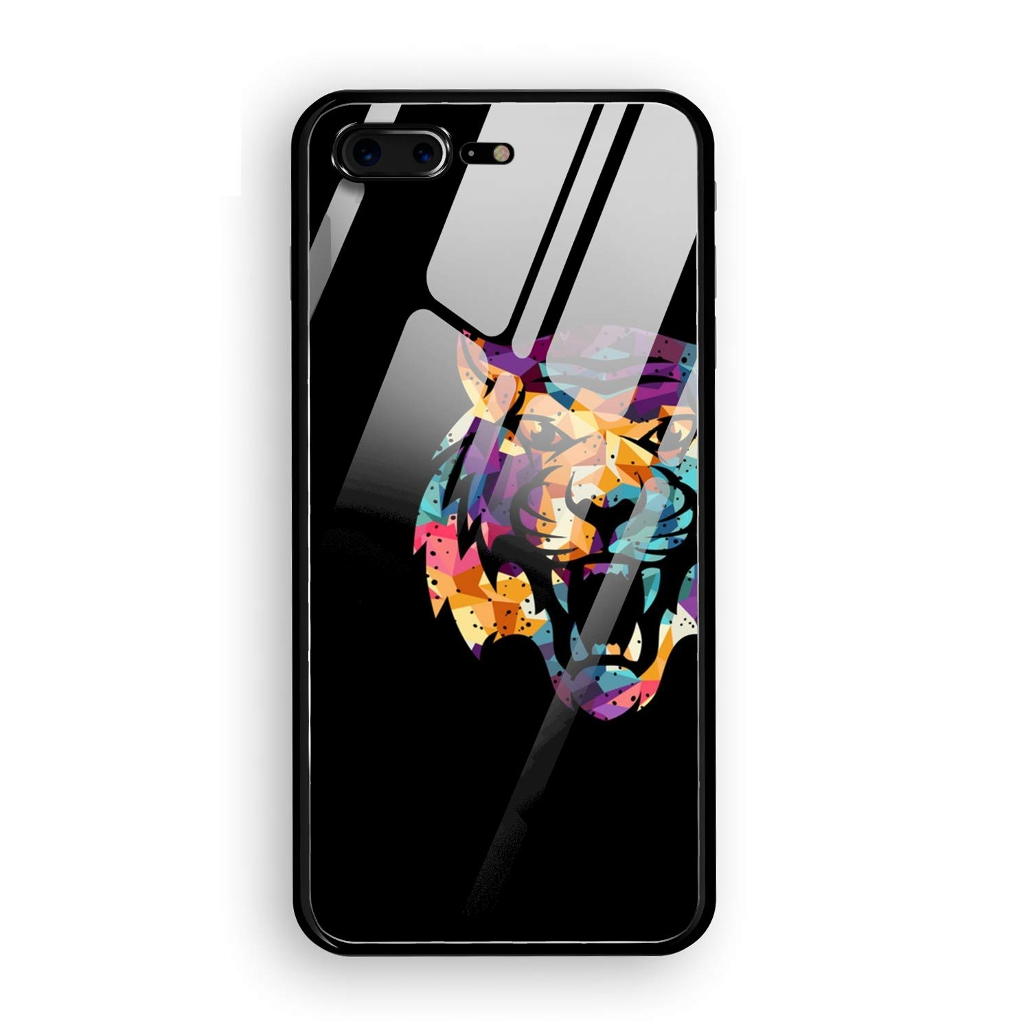 Amazon com: iPhone 8 Plus Case, Silicone Shockproof Tempered Glass