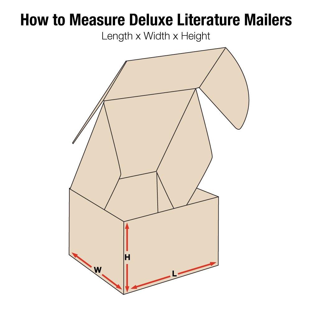 Aviditi Deluxe Literature Mailer Kraft 8 X 8 X 2 3//4 Pack of 50 MFL882K