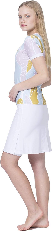Amazon.com: Amanda K - Traje de baño para mujer, manga corta ...