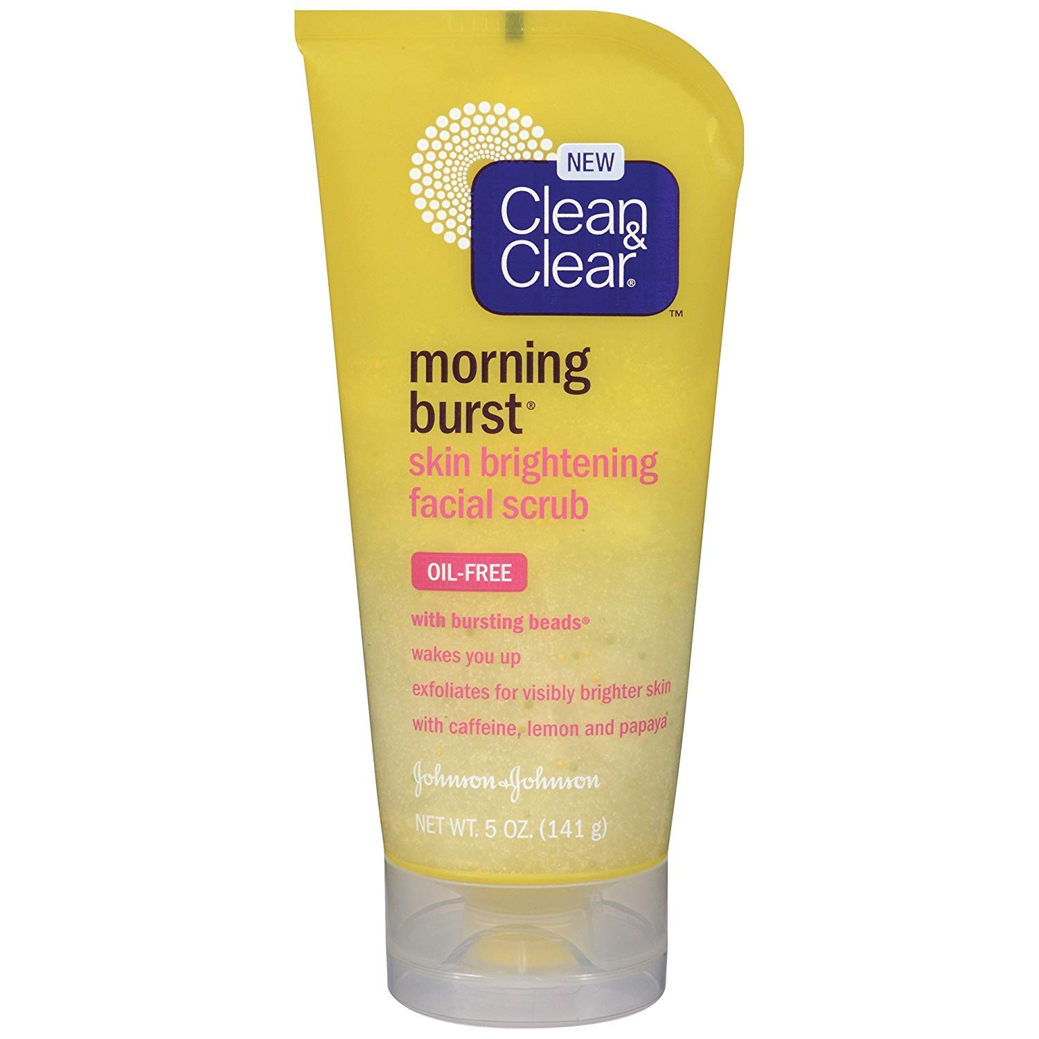 Clean & Clear Scrub Morning Burst Brightening Oil-Free 5 Ounce (145ml) (2 Pack)