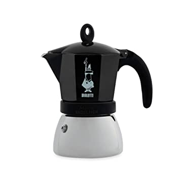 Bialetti Moka Induction Negro - Cafeteras italianas (Negro, 6 tazas, Aluminio, Acero inoxidable, 1 pieza(s))