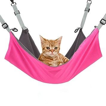 Dr Nezix Cama de hamaca de gato Cama de hamaca cómoda colgante cama para gatos / perros pequeños / conejos / otros pequeños animales 22 x17 in: Amazon.es: ...