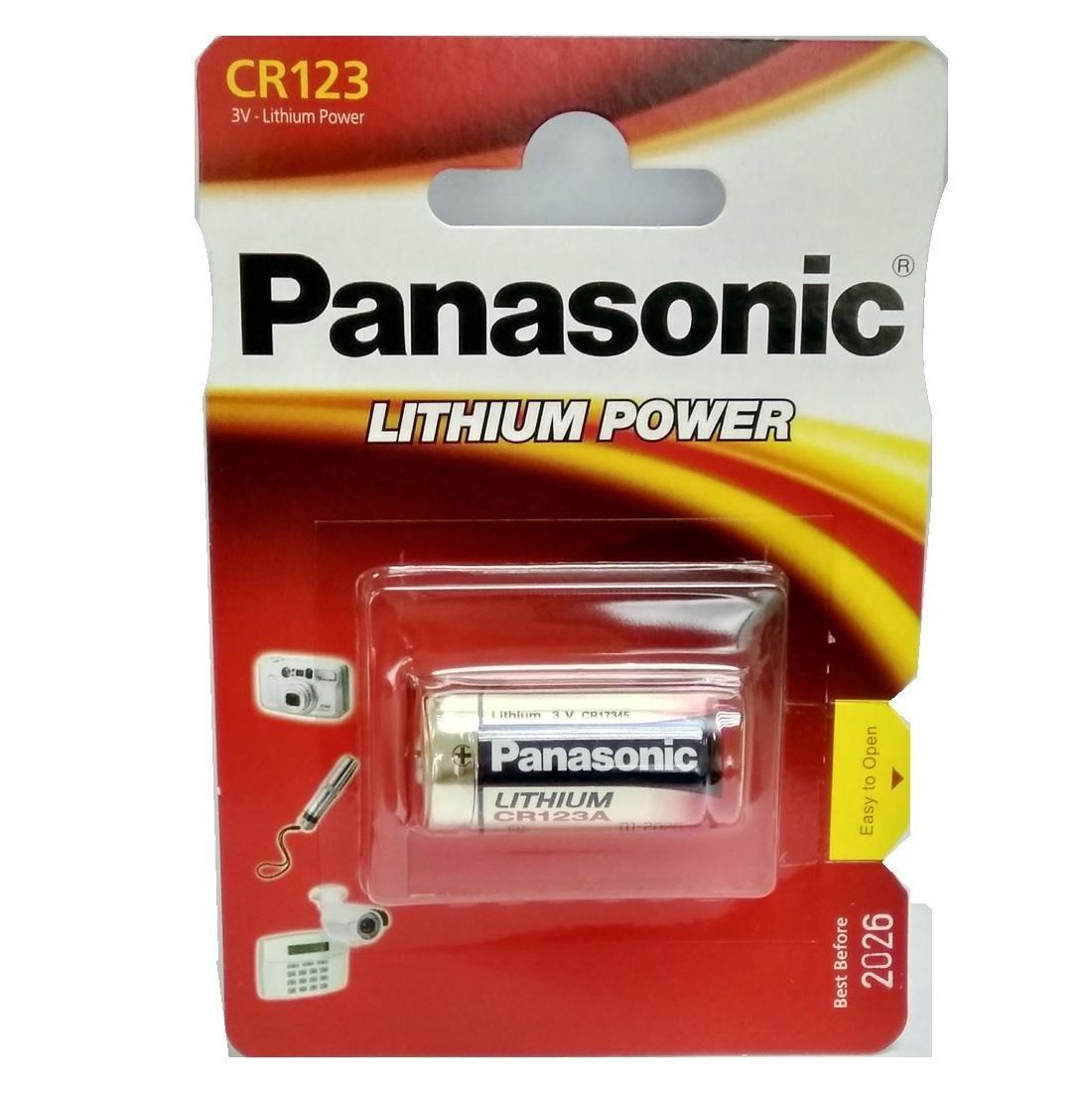Pilas Litio, 3 V, 1400 mAh, 17 mm, 17 mm, 34,5 mm Panasonic CR 123 Litio 3V bater/ía no-Recargable